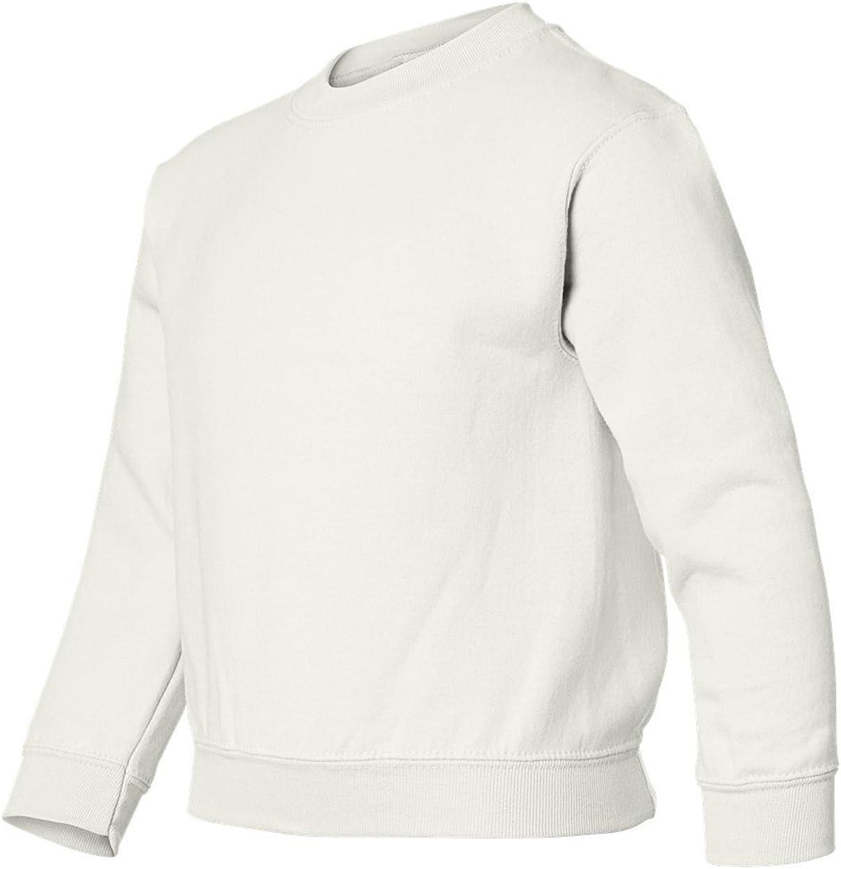 Gildan 7.75 oz 50/50 Youth Crew Neck G180B: Clothing
