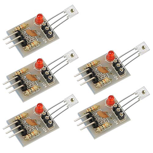 Icstation 5V Light Sensor Module Receiver for Arduino, High Level Output, Work with Relay Switch, Non-Modulator(Pack of 5)