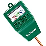 Dr.Meter® Moisture Sensor Meter, Soil Water Monitor, Hydrometer for Gardening, Farming, Indoor/Outdoor Use