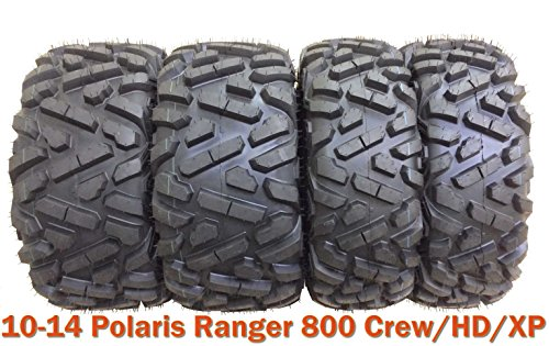 - Set 4 ATV UTV Tires 26x9-12 & 26x11-12 for 10-14 Polaris Ranger 800 Crew/HD/XP