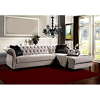 Amazon.com: Furniture of America 2-Piece Corinee Glamorous ...