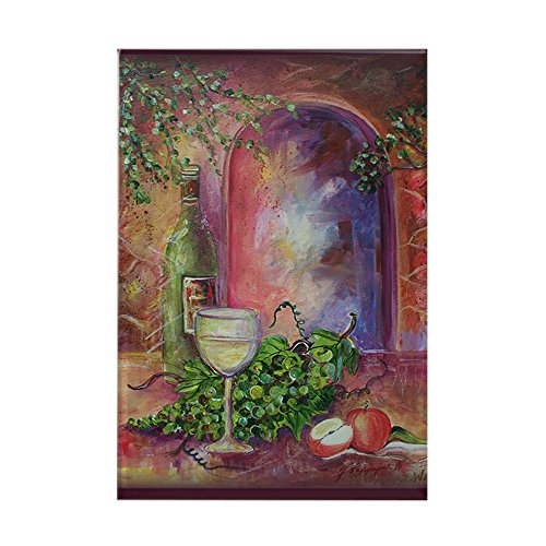 (CafePress White Wine, Green Grapes Rectangle Magnet Rectangle Magnet, 2