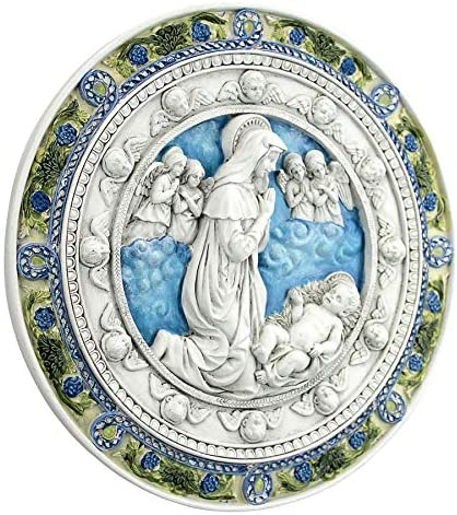 Design Toscano Adoration of the Child Roundel Wall Sculpture