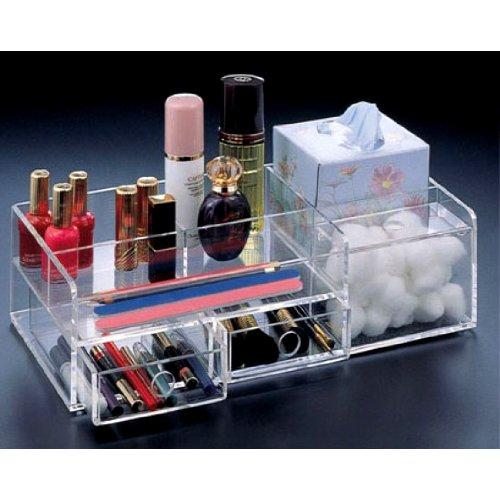 UPC 011711517640, Source One LLC Premium Slim-Line Mini Makeup Organizer 2 Drawers (Slim2Drawer)