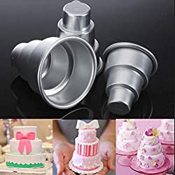 Zoomy far: 3 Layers Tower Shaped Cake Mold Metal S