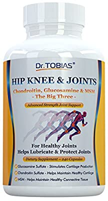 Hip Knee & Joints - Chondroitin, Glucosamine & MSM Combination - Supports Healthy Joints & Cartilage