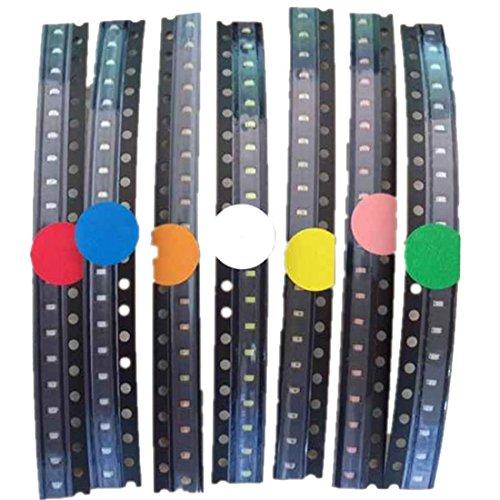 140 pcs SMD 0603 Super bright 7 Colors LED Kit,Blue Red White Green Orange Yellow Pink, 20pcs each color