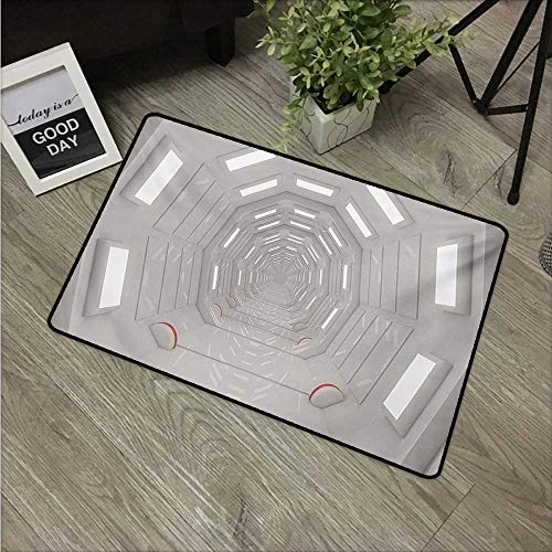 """Price comparison product image Anzhutwelve Outer SpaceFunny doormats Galactic Travel Atmospheric Plasma Cosmonaut Transportation Interior Design W 16"""" x L 24"""" Carpet Kids Room Rugs Warm Taupe"""