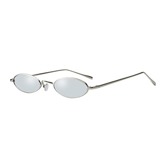 ccde73ecf8 ROYAL GIRL Vintage Oval Sunglasses For Unisex Small Fashion Metal Frames  Shades (C8-Sliver