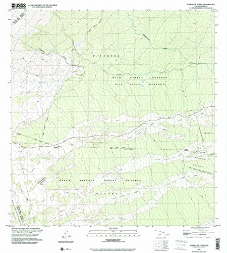 Hawaii Maps - 1994 Waikoloa Ponds, HI USGS Historical Topographic Map - Cartography Wall Art - 37in x ()