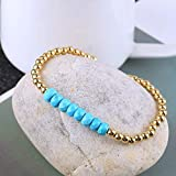 KELITCH Created Turquoise Beaded Bracelet Handmade