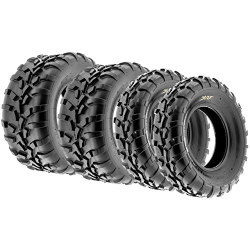 Set of 4 SunF A010 25x8-12 Front & 25x11-12 Rear ATV UTV Lawn Mowers Tires, 6 PR, - Polaris Atv 6 X 6