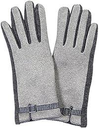 Womens Fashion Smart Touch Glove - Houndstooth Trim