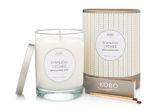 Kobo Candles Kobo Soy Candle, D'Anjou - Candle Lychee Scented