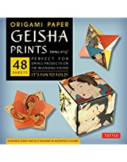 """Origami Paper Geisha Prints 48 Sheets 6 3/4"""" (17 cm): Large Tuttle Origami Paper: High-Quality Origami Sheets Printed with 8 Different Designs (Instructions for 6 Projects Included)"""