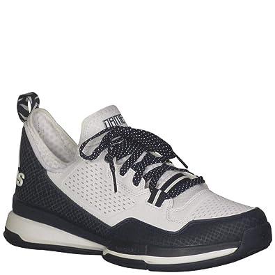 0da235972fb8 adidas Men s D Lillard Basketball White Collegiate Navy White 8.5 D(M)