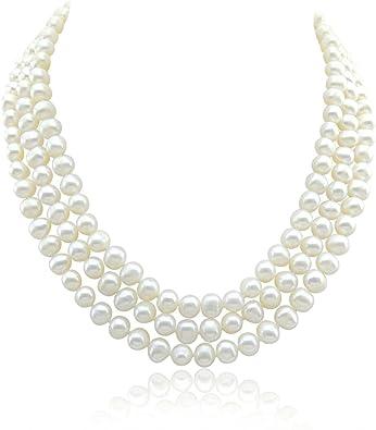 blanc collier 43 cm perles de culture