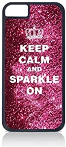 meilinF000Keep Calm and Sparkle On - iphone 6 plus 5.5 inch Rubber DOUBLE LAYER PROTECTION black case - compatible with Iphone 5 5cmeilinF000