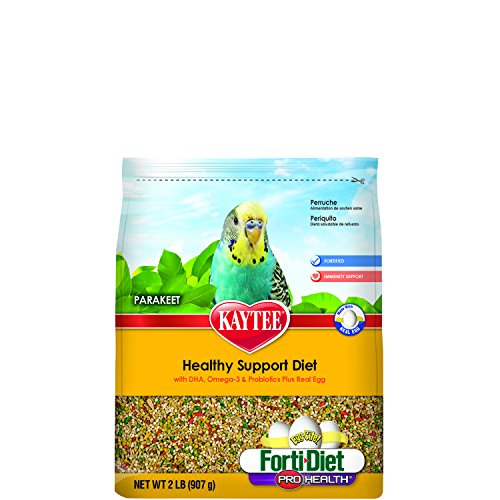 - Kaytee Egg-Cite Forti Diet Pro Health Healthy Support Diet for Parakeets, 2-Pound