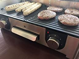 Wmf Elektrogrill Unterlage : Wmf lono master grill w getrennt regulierbare