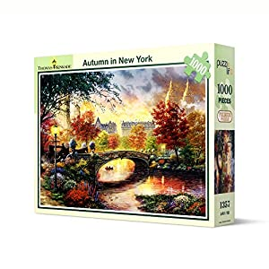 Puzzle Life Autunno A New York Thomas Kinkade 1000 Piece Jigsaw Puzzle