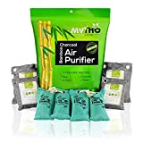Bamboo Charcoal Air Purifying Bag Naturally Remove Odor from Refrigerator, Cars, Closets, Shoes, Litter, Smoke. Air Filters Eliminate Moisture Toxic Chemical for Home RV Office Kitchen Biodegradable