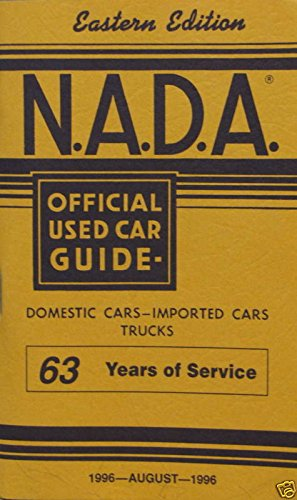 Eastern Used Cars (NADA Used Car Guide - Eastern Edition - August, 1996)