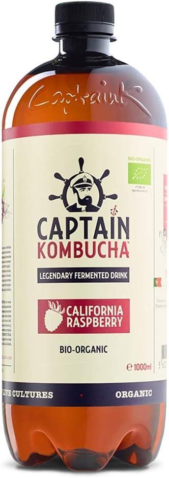 Captain Kombucha California Raspberry, Té de Burbuja - 1000 ml