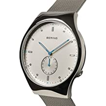 BERING Time 70142-004 Mens Smart Traveler Collection Watch with Mesh Band and scratch resistant sapphire crystal. Designed in Denmark.