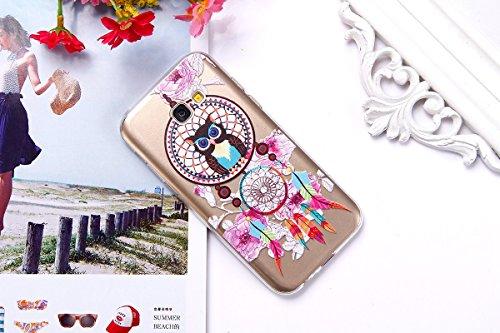 Funda Samsung Galaxy A5 2017,SainCat Moda Alta Calidad suave de TPU Silicona Suave Funda Carcasa Caso Parachoques Diseño pintado Patrón para CarcasasTPU Silicona Flexible Candy Colors Ultra Delgado Li Búho Campanula