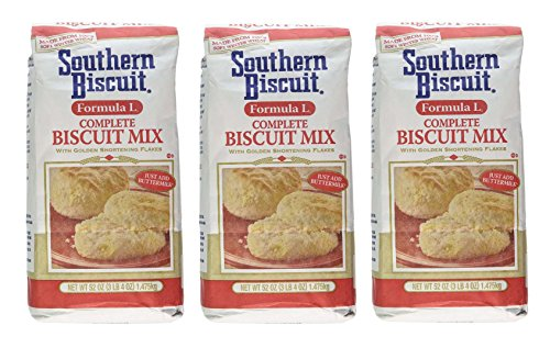 Southern Biscuit Formula L Complete W/golden Shortening Flakes Biscuit Mix, 3 - 52oz Pkgs (Best Southern Buttermilk Biscuits)