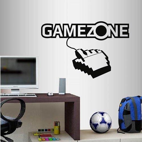 Decoraci/óN Del Hogar Ni/ñOs Dise/ñO de Jugadores,Decoraci/ón de Vinilos Gamer Extra/íble Para Adolescentes Dormitorio Calcoman/ías de pared de Game Zone,Pegatinas de Pared de Juegos