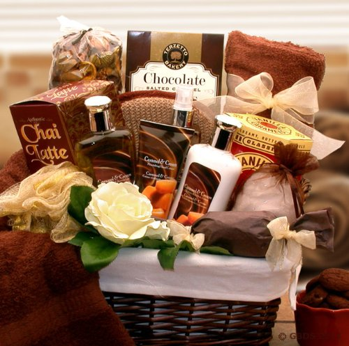 Soothing Caramel and Cream Indulgence Gift Basket - Great Birthday, Mothers Day or Any Occasion Gift by The Gift Basket Gallery
