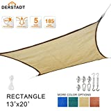 Derstadt Sun Shade Sail with Stainless Steel Hardware Kit, Top Quality Outdoor Patio Canopy Backyard, 90 UV Block Shelter, Rectangle