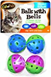 Bow Wow Cat Ball with Bell, 4-Pack, My Pet Supplies