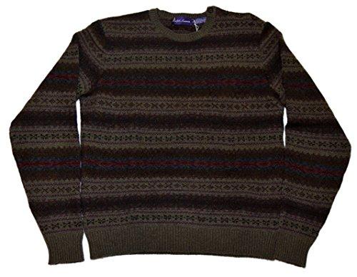 Polo Ralph Lauren Purple Label Green Mens Sweater Cashmere Italy Medium