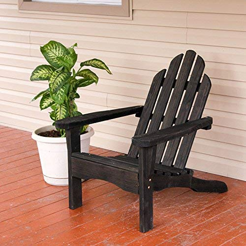Amish Heavy Duty 800 Lb Pressure Treated Adirondack Chair (Semi-Solid Black Stain)