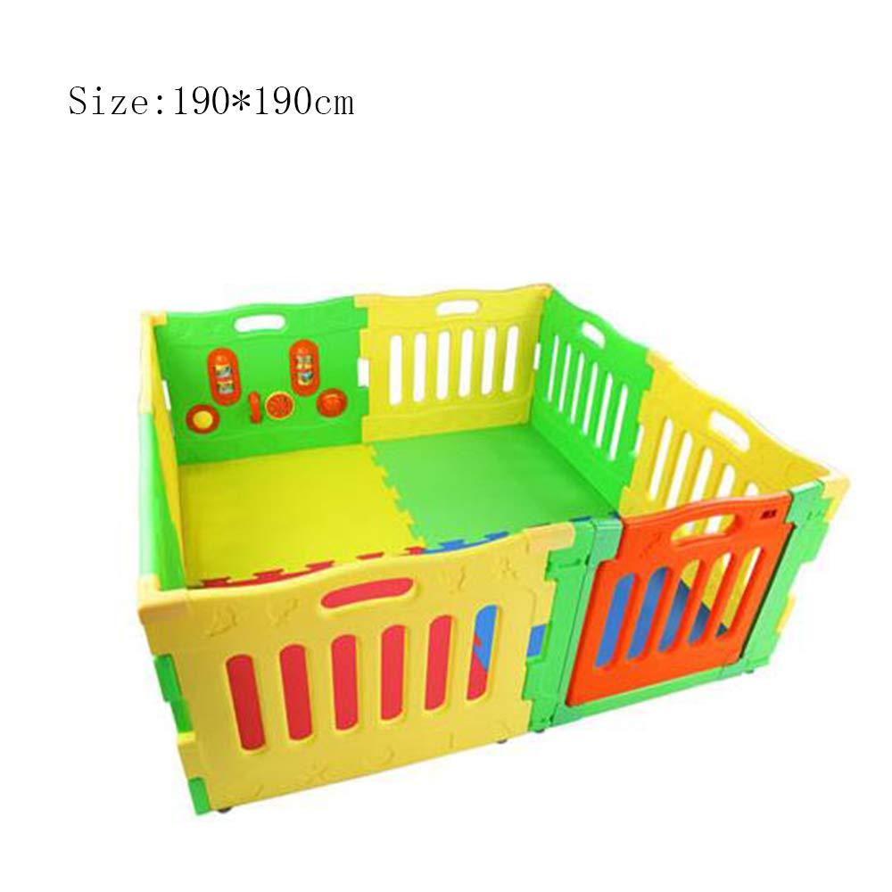 美しい XIAOLIN 安全保護フェンス玩具ハウスゲームフェンスファミリークロール学習ウォーキングガードレール (サイズ B07GLRK836 さいず : 190 190* 190cm) 190 (サイズ*190cm B07GLRK836, CRISPIN(クリスピン):09f0a2ec --- a0267596.xsph.ru