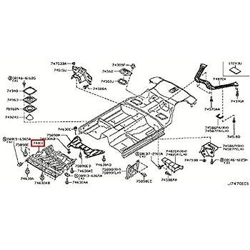 Amazon Com Infiniti Genuine Floor Fitting Under Engine Cover 75892
