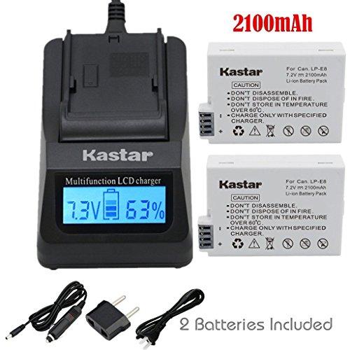 Kastar Charger Battery 2 Pack Cameras