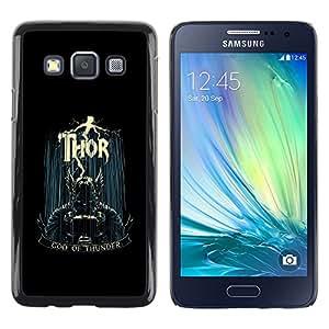 TECHCASE**Cubierta de la caja de protección la piel dura para el ** Samsung Galaxy A3 SM-A300 ** God Of Thunder