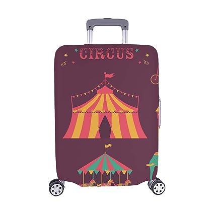 Juego de Circo Carpa Conejo Sombrero Payaso Spandex Maleta con Ruedas Maleta Protectora de Viaje Cubierta
