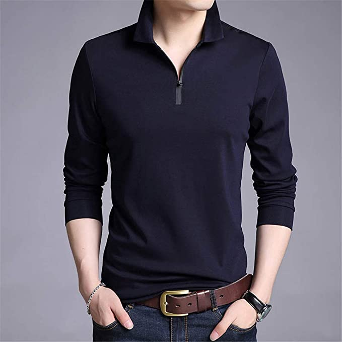 Flying Lisa Camisetas Hombre Color sólido Camisa Entallada Camiseta de Manga Larga Camisetas Casuales para Hombre: Amazon.es: Ropa y accesorios