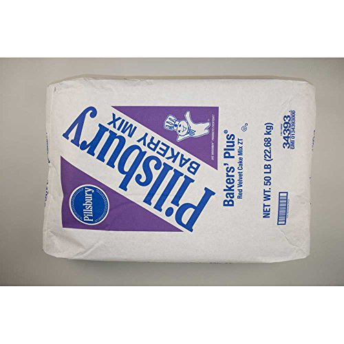 Pillsbury Bakers Plus Red Velvet Cake Mix, 50 Pound -- 1 each. by General Mills (Image #1)
