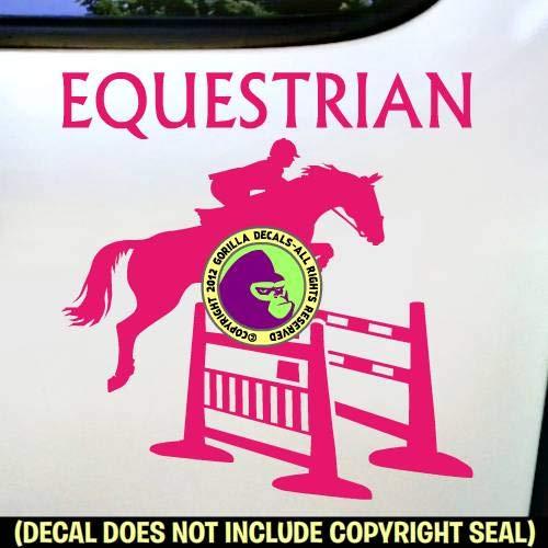 EQUESTRIAN Spread Jump Hunter Jumper Vinyl Decal Sticker B