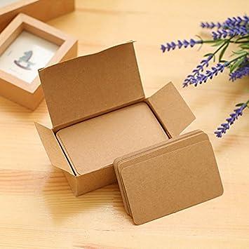 tarjetas de visita 100 unidades por caja Wonque Tarjetas de papel kraft m/ás gruesas para mensajes 8 colores tarjeta de regalo