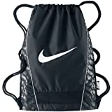 New Nike Brasilia Gymsack DS Bag Black/Black/White
