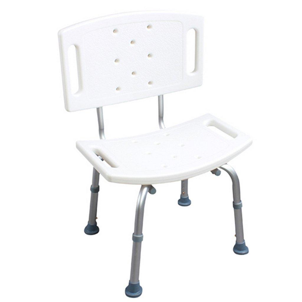 バスの椅子古い人妊娠中の女性障害者浴室アンチスリップチェアシャワースツール調整可能なアルミニウム合金 B07DMWQF9X