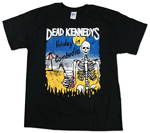 (Dead Kennedys - Cambodian Skeleton T-Shirt Size L)
