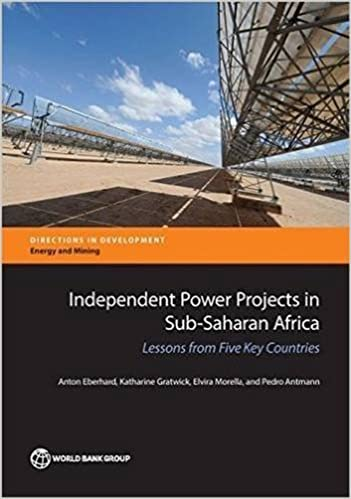 Book Independent Power Projects in Sub-Saharan Africa: Lessons From Five Key Countries (Directions in Development) by Anton Eberhard (2016-04-18)